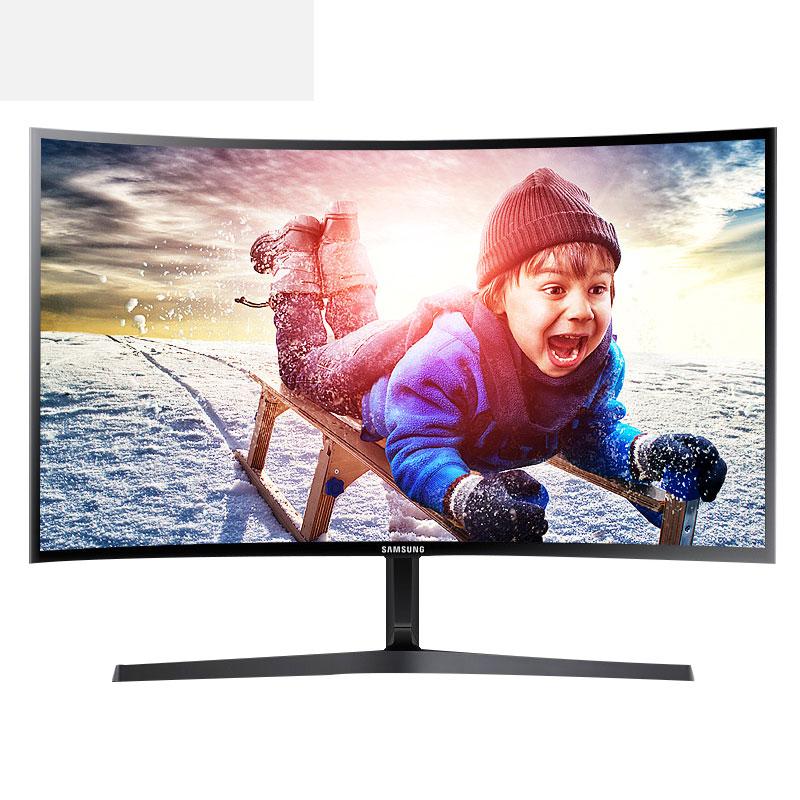 三星C24F396FH曲面显示器23.5英寸电脑显示器24液晶显示屏幕超22