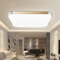 超薄创意 吸顶灯客厅灯长方形大气现代简约LED主卧室灯餐厅灯具 特别提醒 三色调光和高亮款不支持手机控制