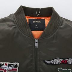 森马夹克 2016冬装新款男士飞行夹克贴布绣立领休闲外套韩版潮流